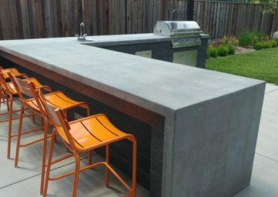 Outdoor Kitchens, Concrete Counters
